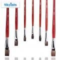 Kuelox 高爾樂新概念木中桿混合毛平頭水彩畫筆S302-A6單號#1.3.5.7.9.11#S302-A6