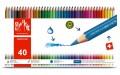 卡達 Fancolor 水溶性木顏色筆 40色 #1288.340